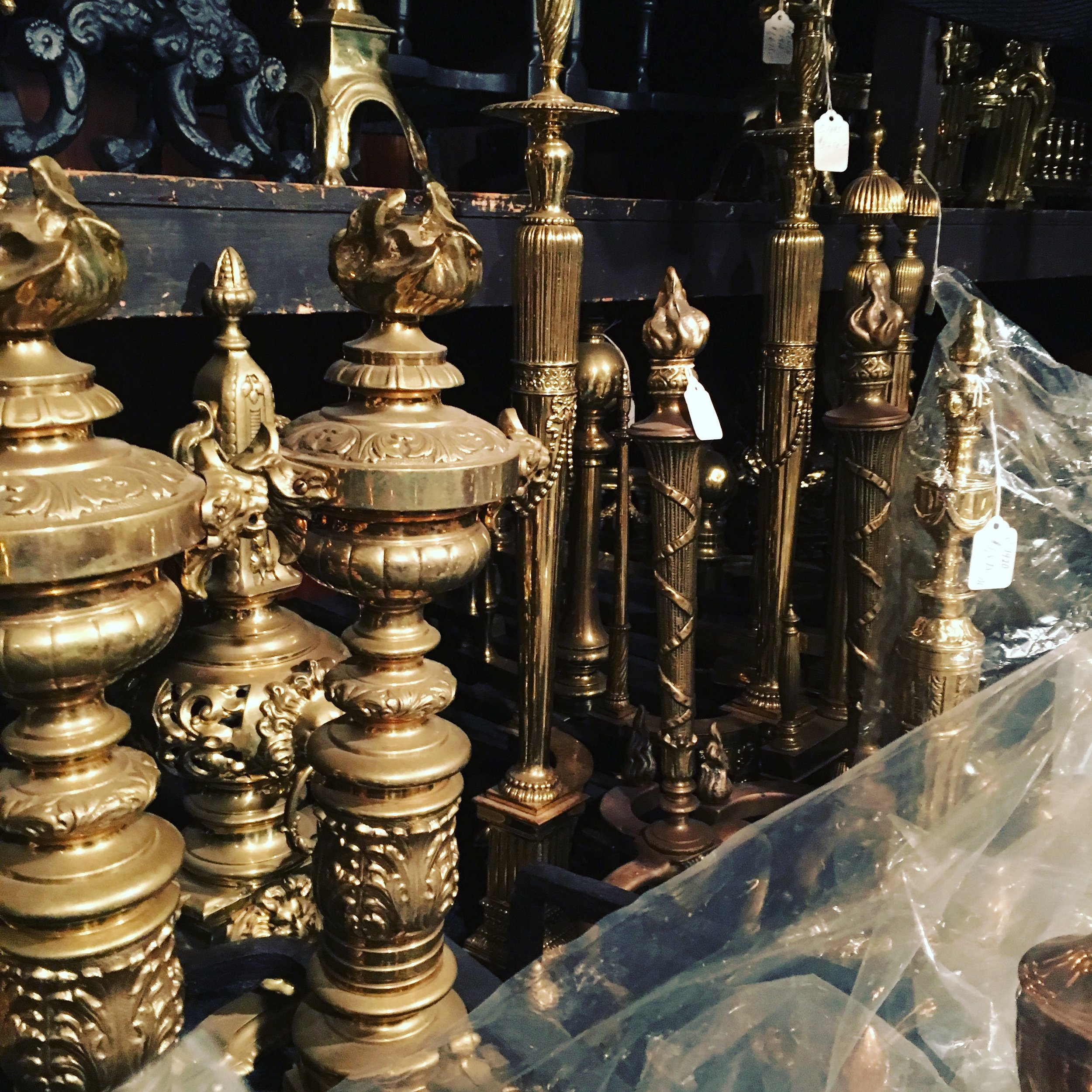 vintage fireplace accessories