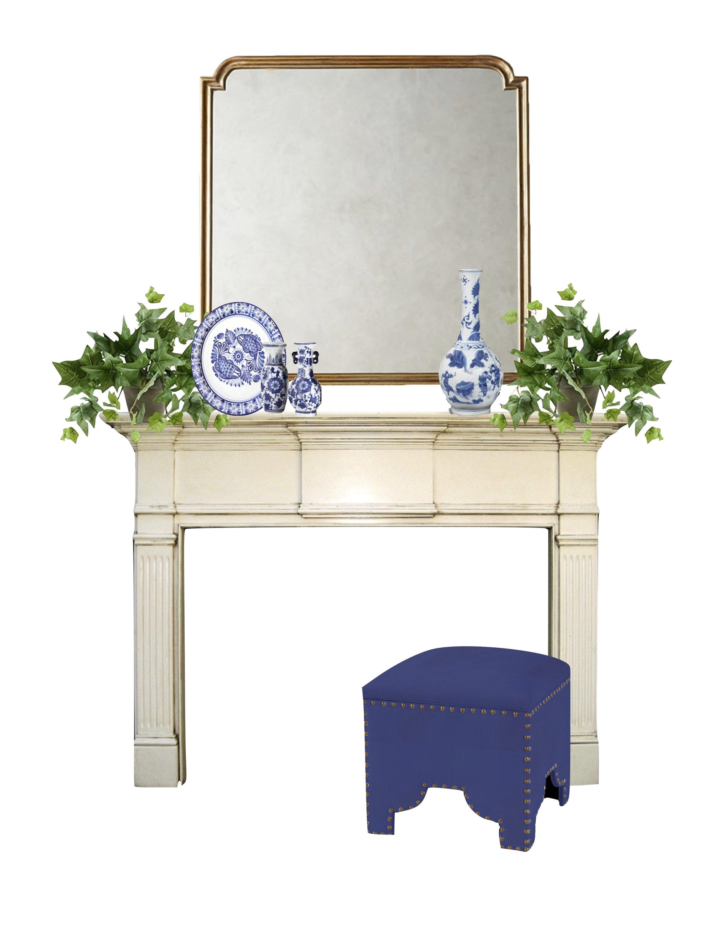 Mirror       Small Vases       Ottoman