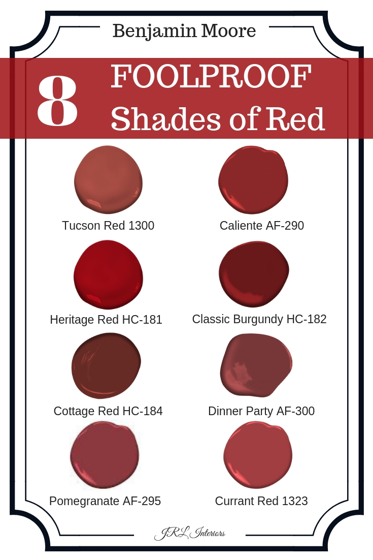 8 Foolproof shades of red paint