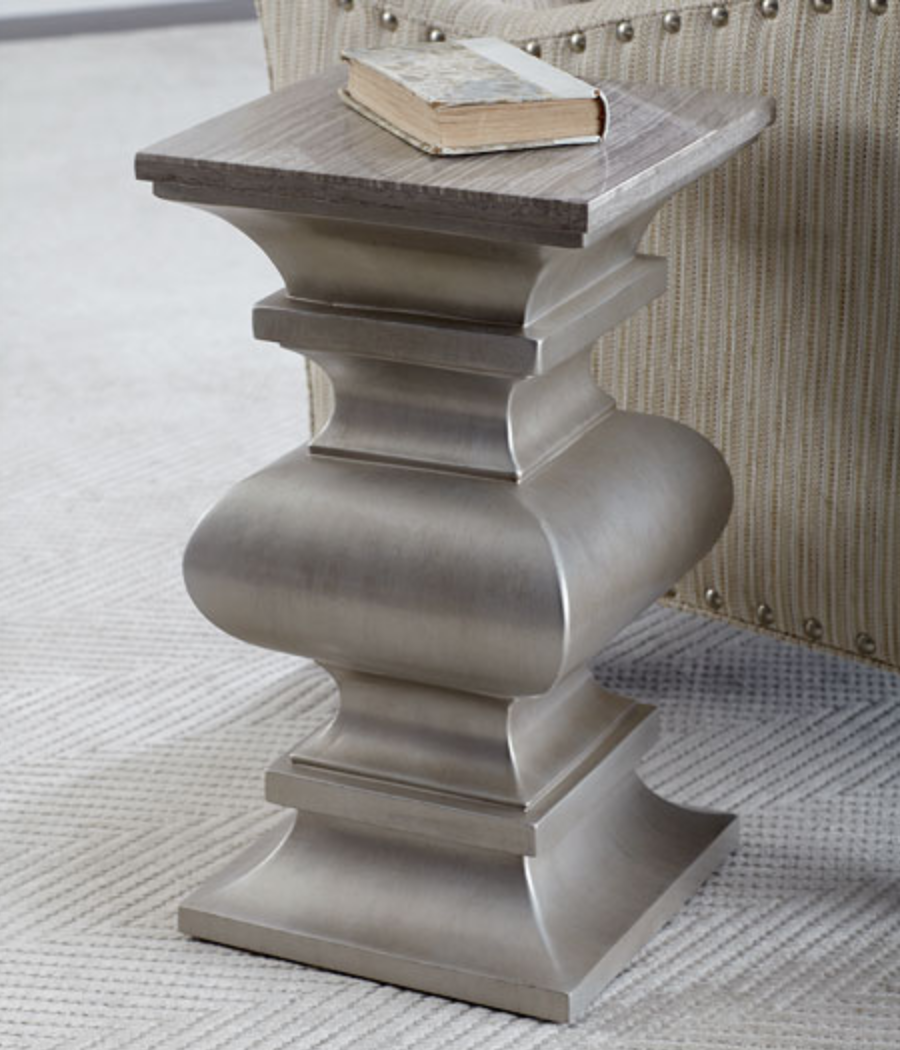baluster silver side table
