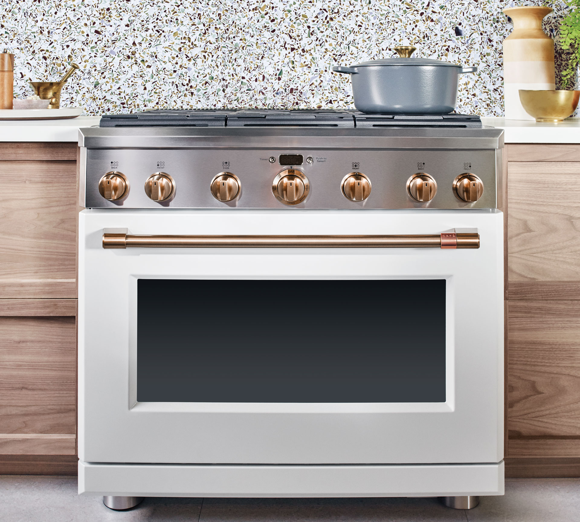 Matte white (or black) appliances from   Cafe Appliance by GE  , available at   Best Buy