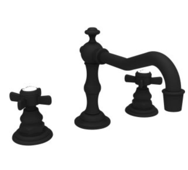 black widespread faucet Newport Nrass