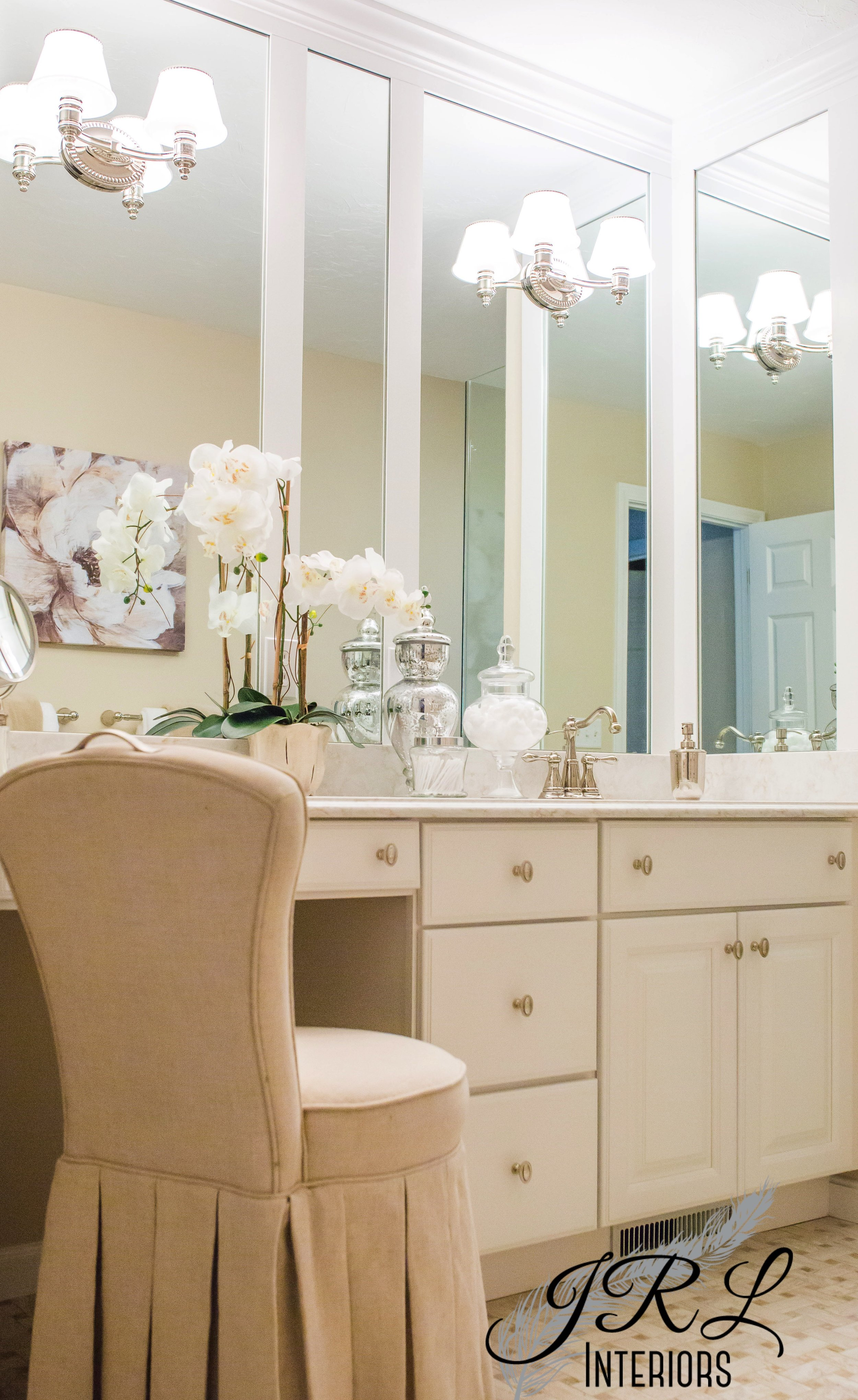 Classic finishes make for timeless style in this master bathroom renovation