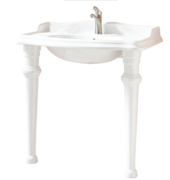 console sink with table legs