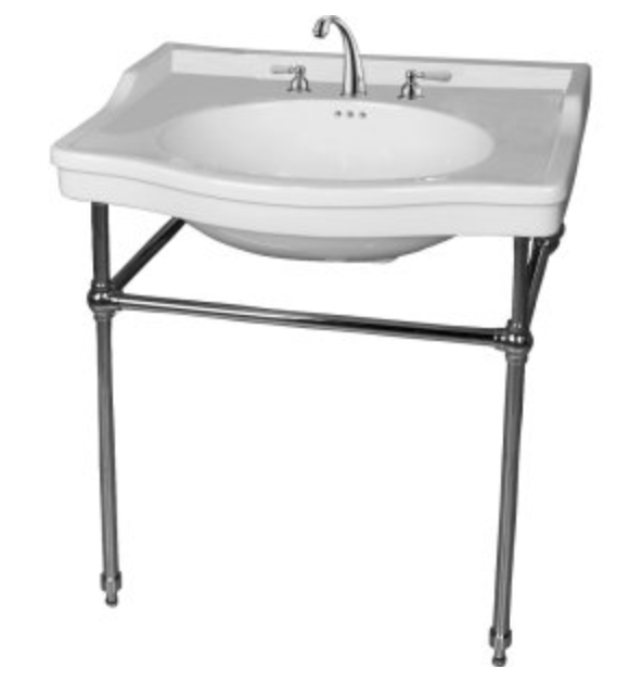 console sink with chrome legs