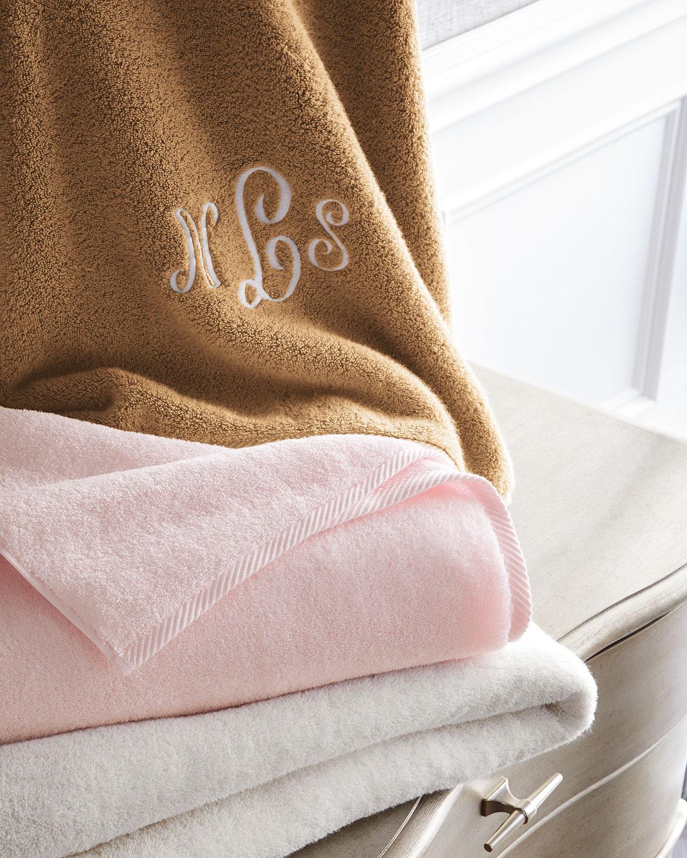 monogrammed Matouk luxury towels