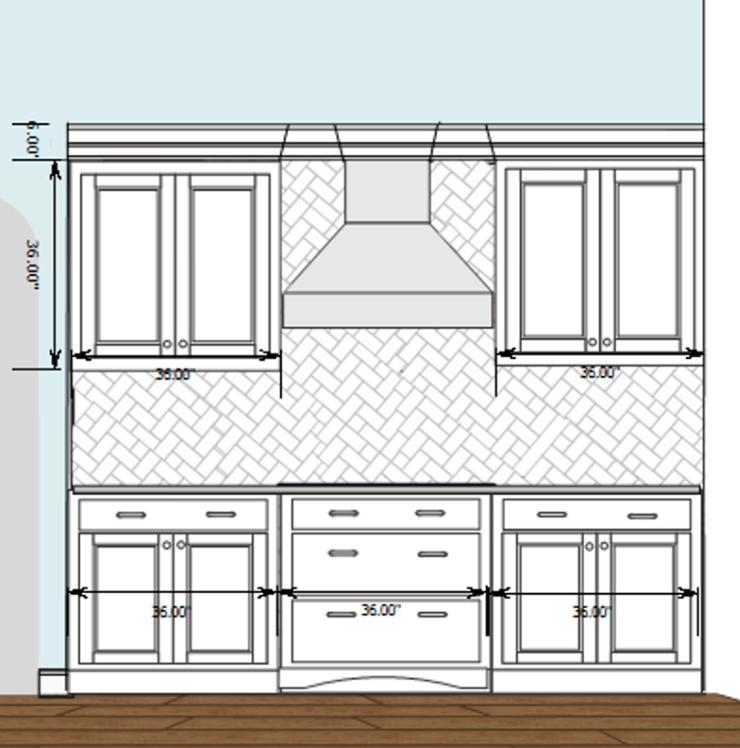 Kitchen wall elevetion
