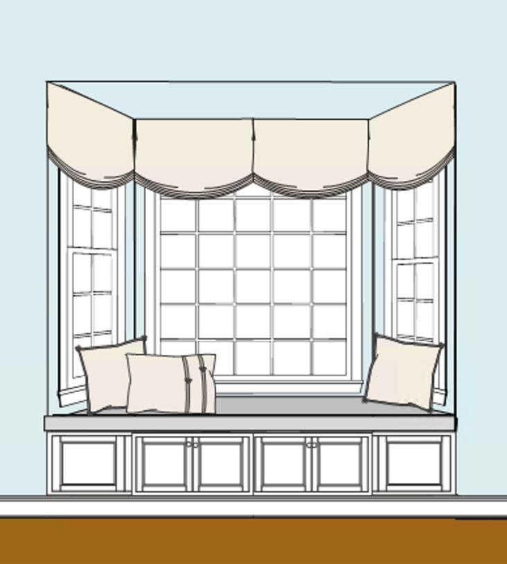 windowseat elevation