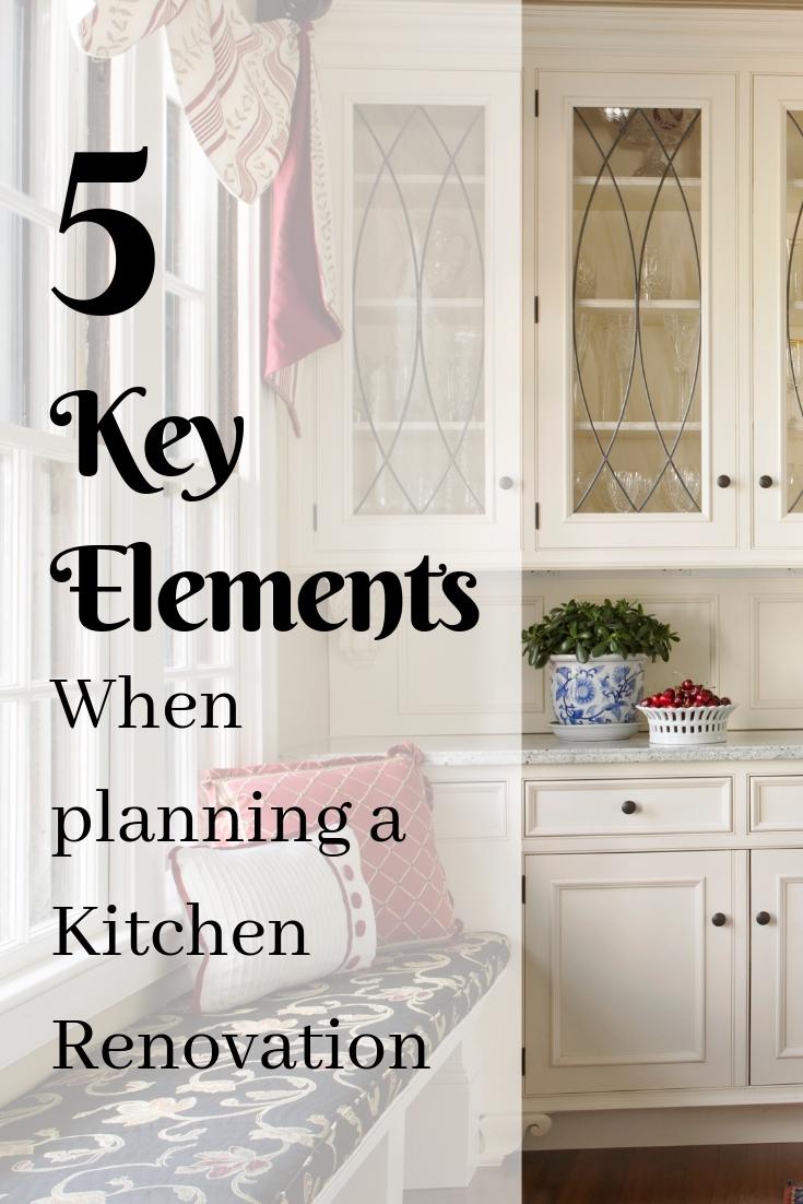 5 Key Elements when planning a kitchen renovation