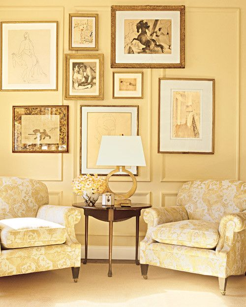 Suzanne Lynne's Manhattan apartment decorated by Kevin Sharkey via Martha Stewart.