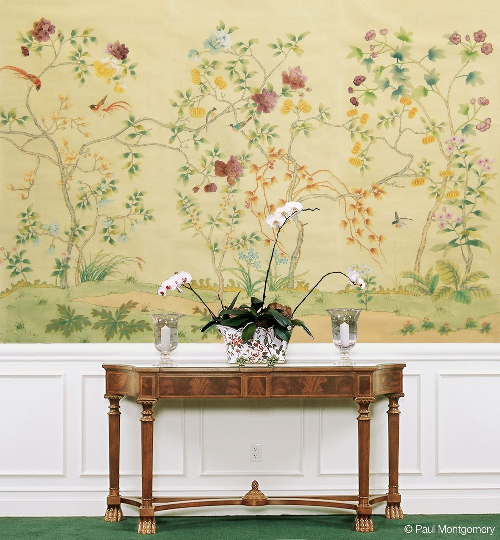 Paul Montgomery   hand painted wallpaper mural