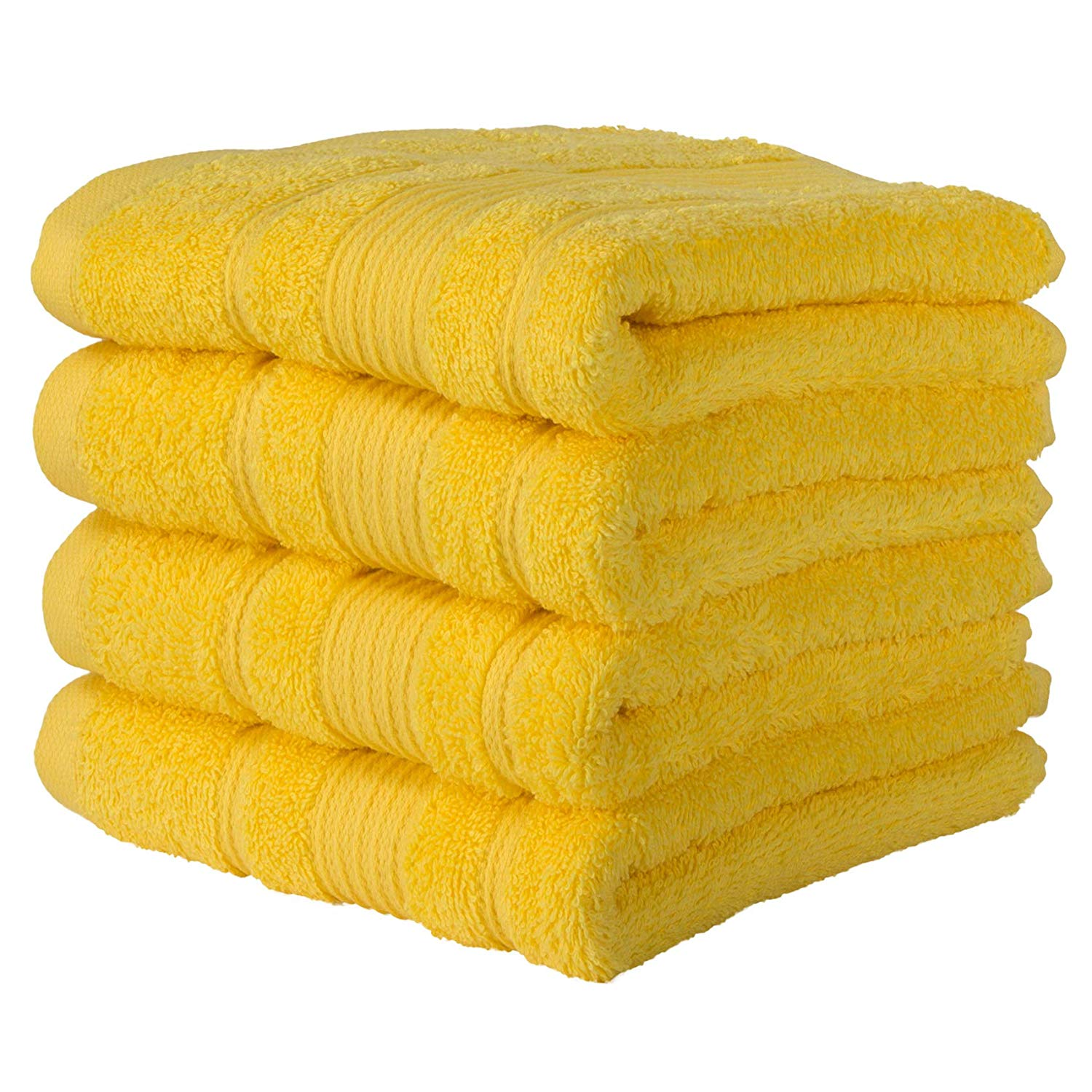 yellow towel set