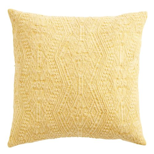 yellow textured pillow