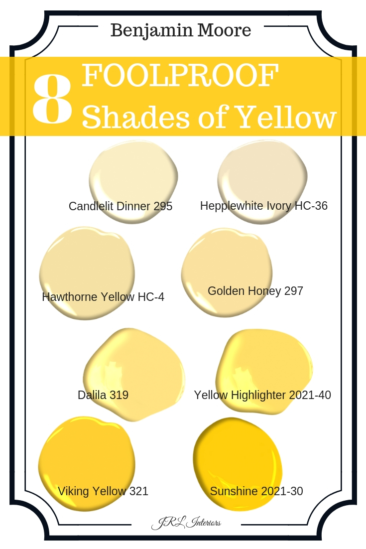 Shades of Yellow Paint