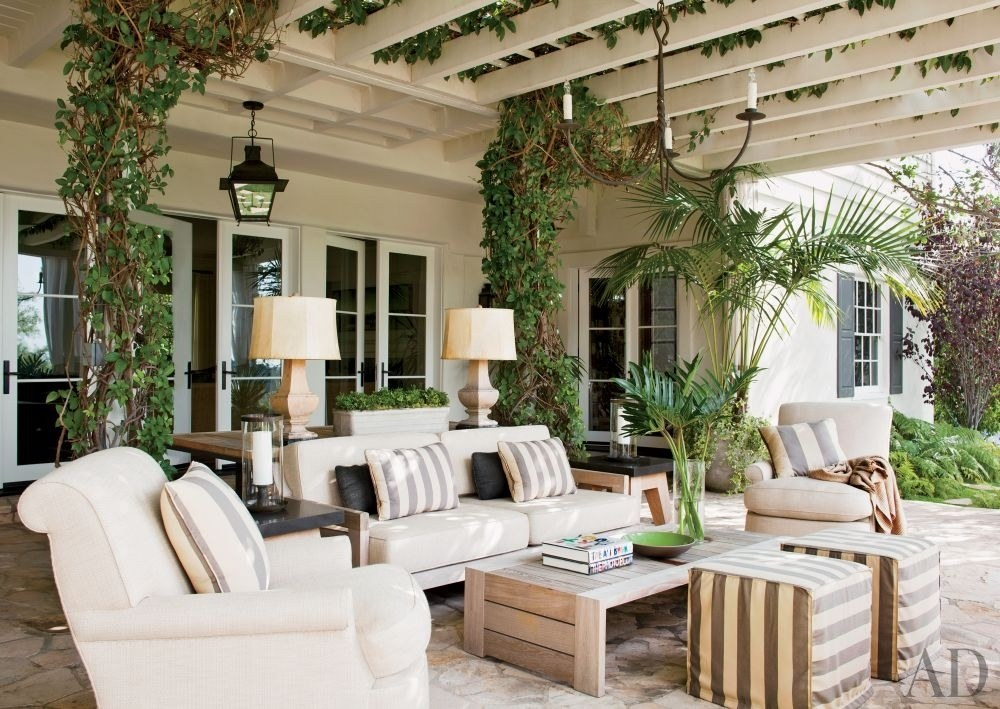 Gorgeous Bel Air patio designed by   Trip Haenisch  , Photo by   Roger Davies   ,image via   AD