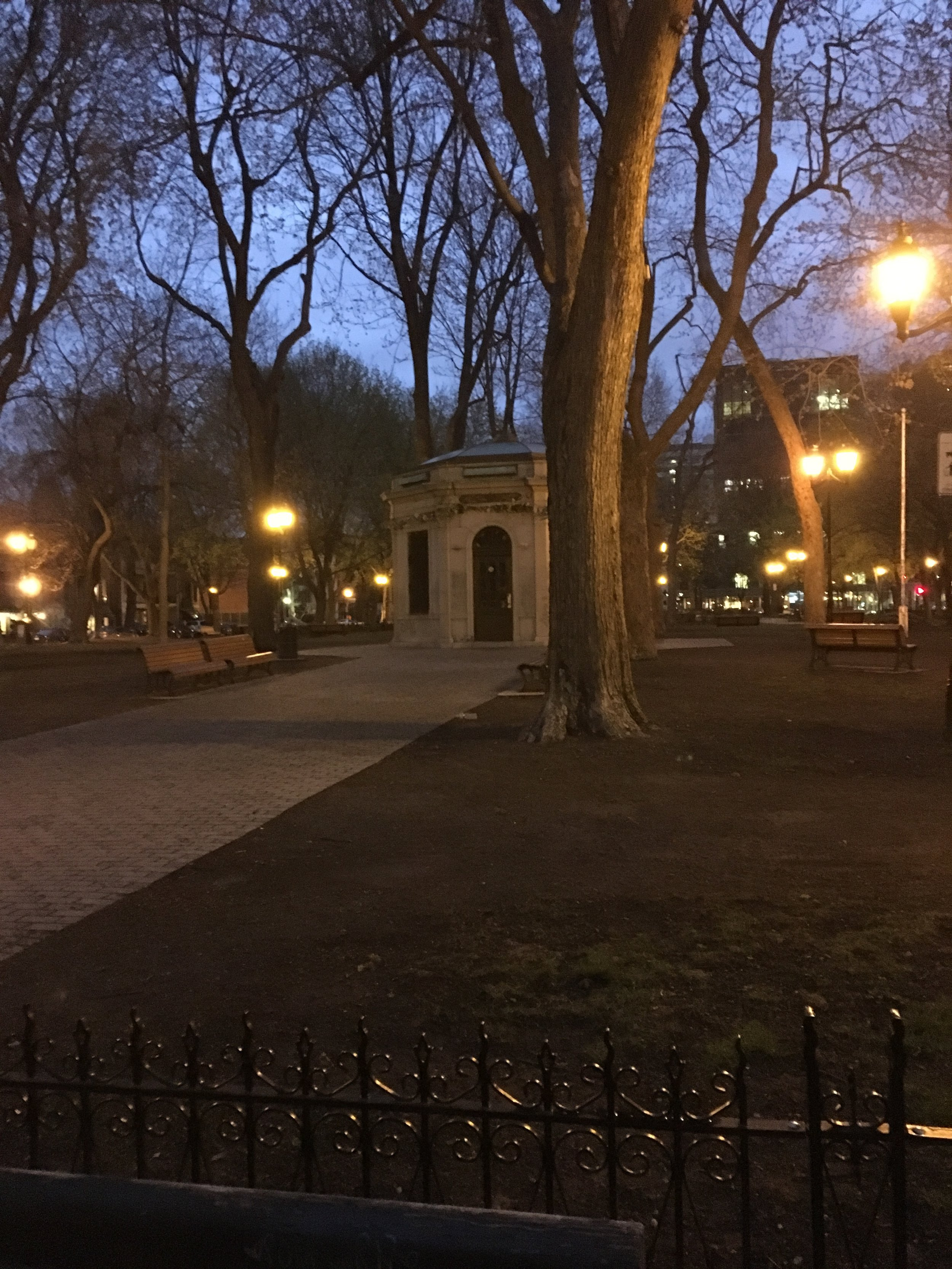 A park that reminds me of Savannah! Square Saint-Louis, with a central kiosk/cafe and fountain, is surrounded by Victorian row houses