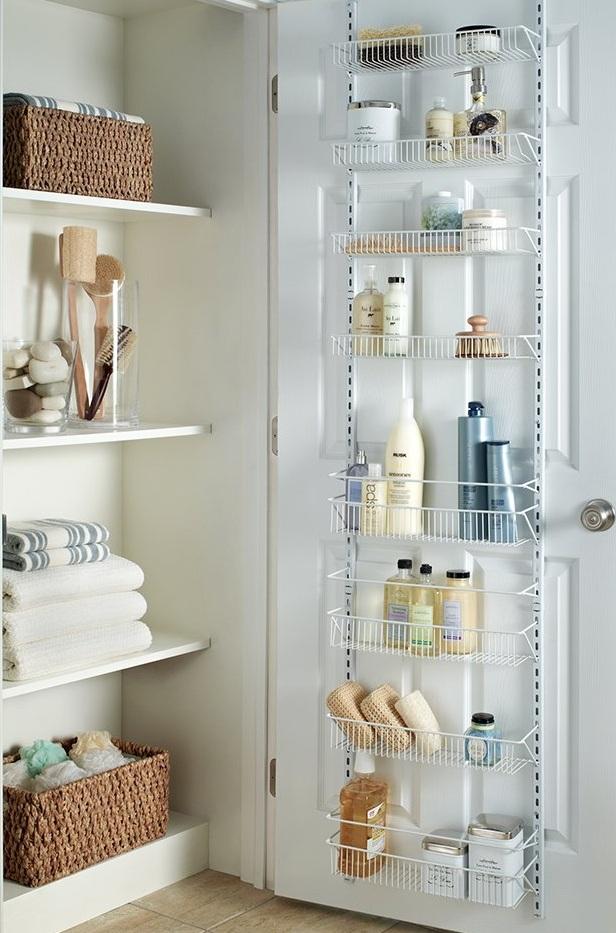 Adjustable door shelves