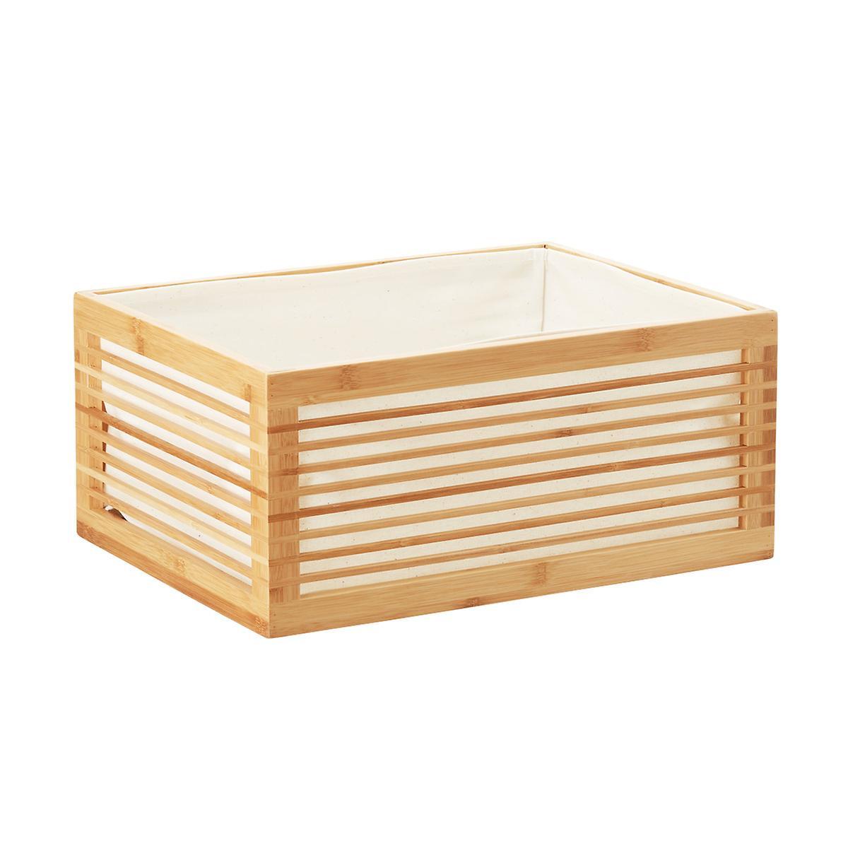 lined bamboo bin