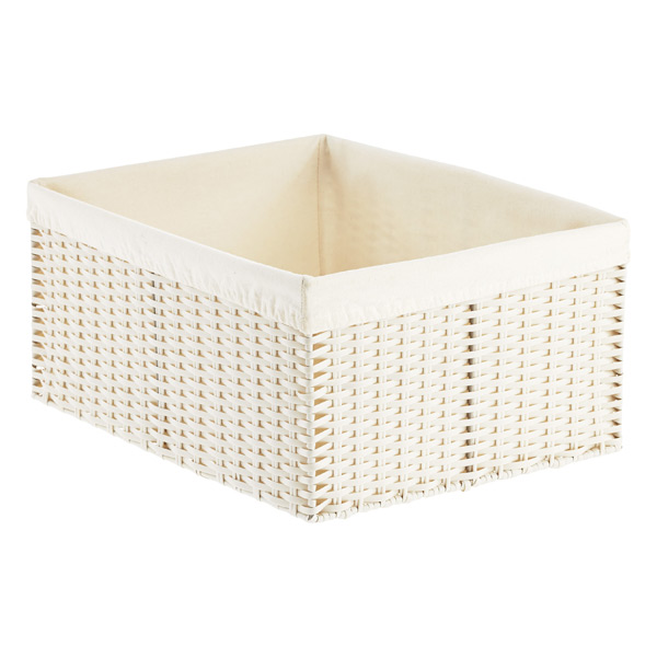 lined woven basket