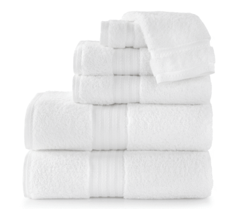 Long staple cotton luxurious towels (660 gram weight, imported from Portugal) from   Peacock Alley