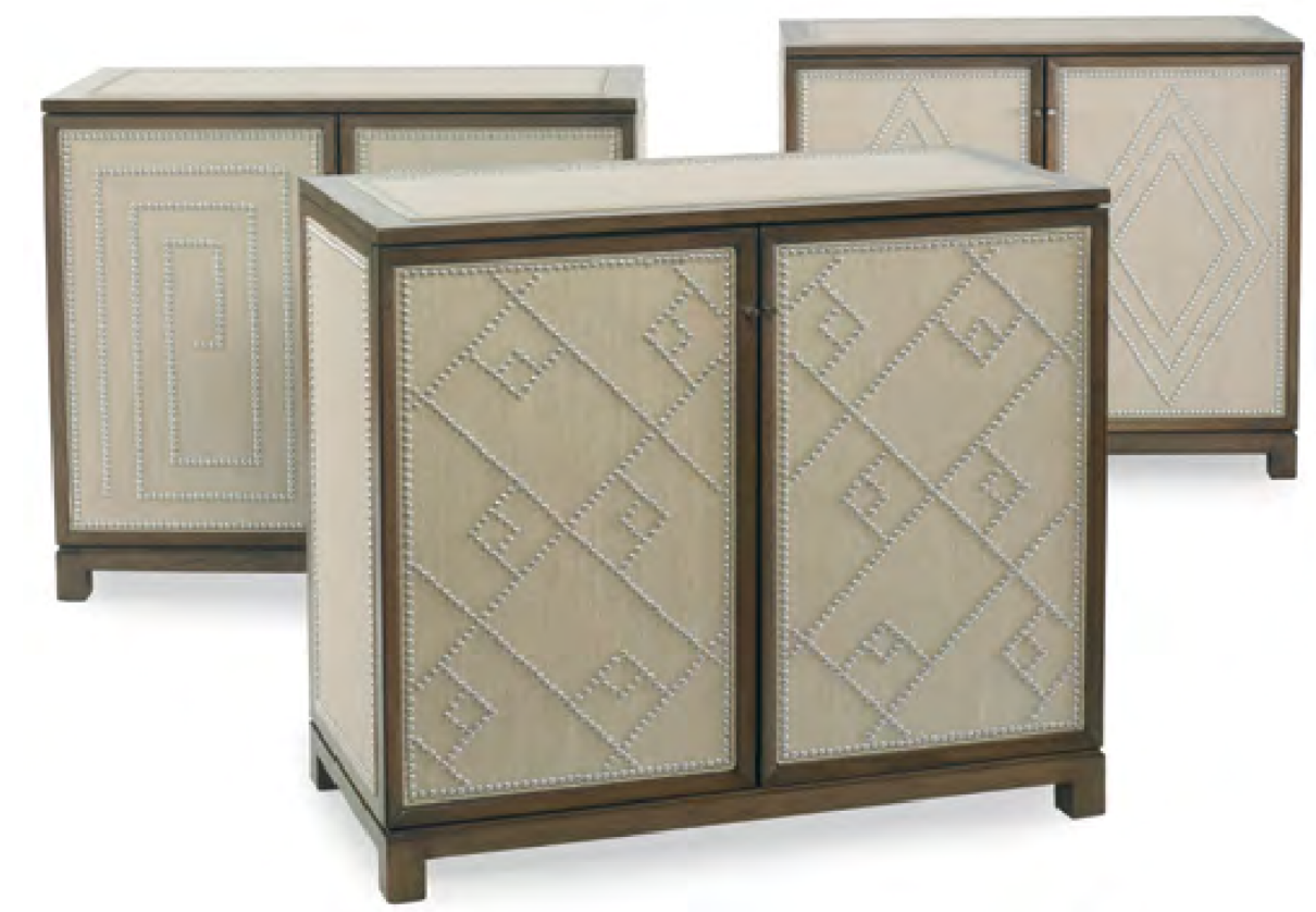 This chest is available in a variety of nailhead patterns