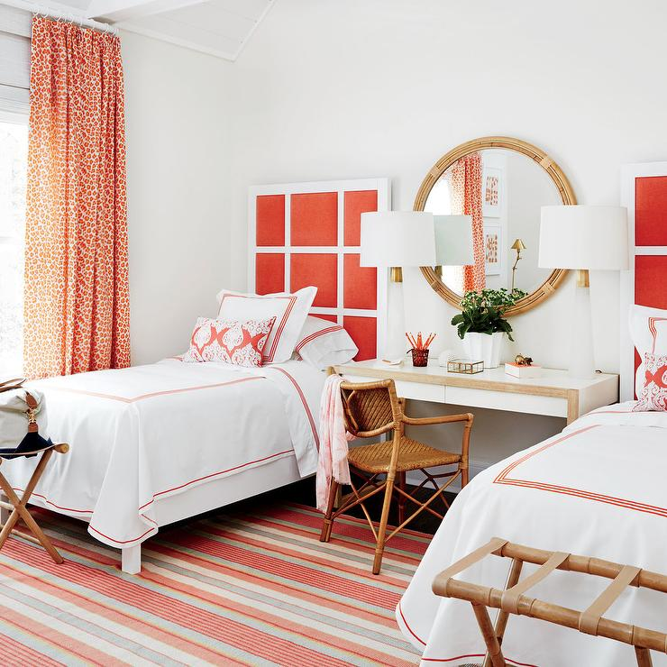 2016 Hamptons Showhouse: Guest Room via  Coastal Living : Design by  Meg Braff,  Photo by  David A. Land,  Styling by  Lindsey Ellis Beatty  and  Rachael Burrow