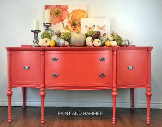 Painted Buffet by  Paint and Hammer