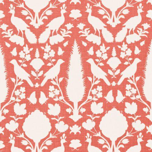 Schumacher Chenonceau Coral Fabric