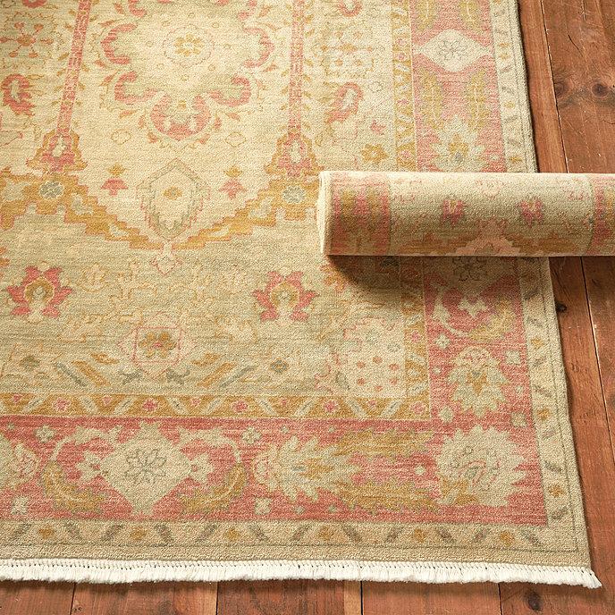 Oushak Style Wool Area Rug