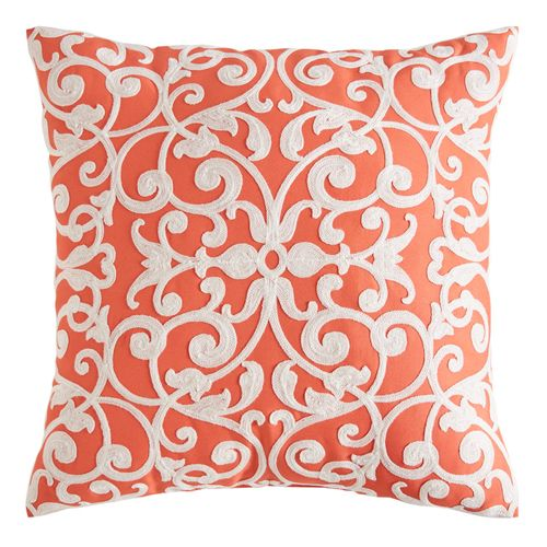Scroll Coral Pillow