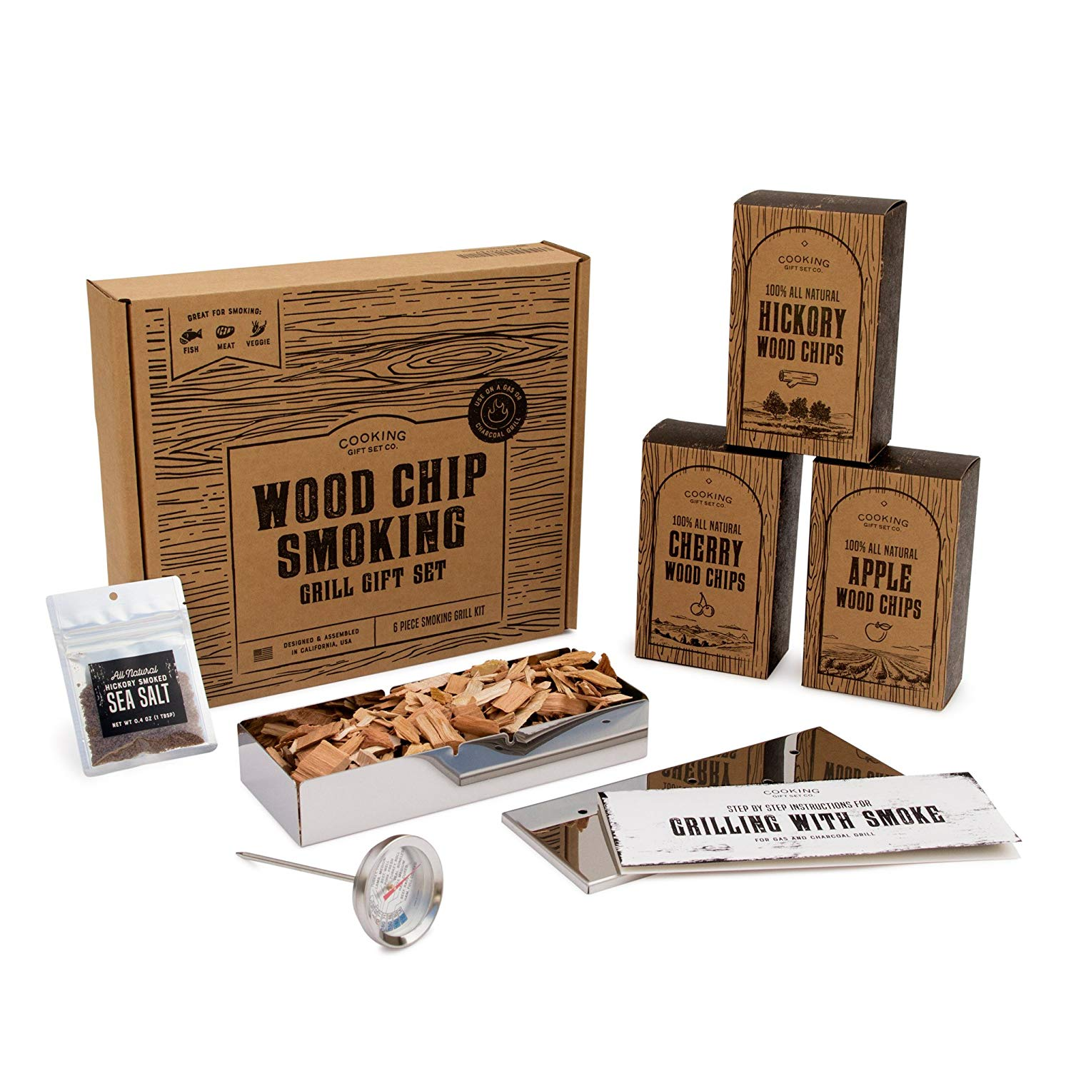 Cooking Gift Set | BBQ Smoker Wood Chip Grill Set $59.95