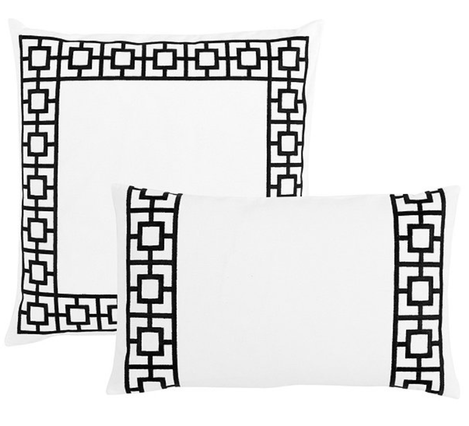 "22"" embroidered trellis $52 (or 12"" x 20"" $44)"