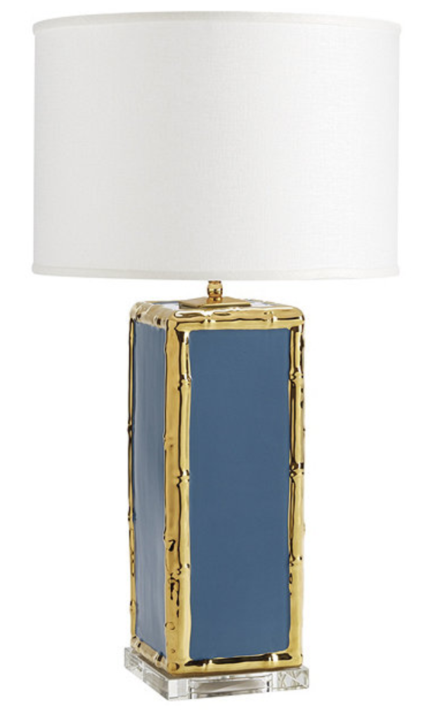 Blue Bamboo Lamp