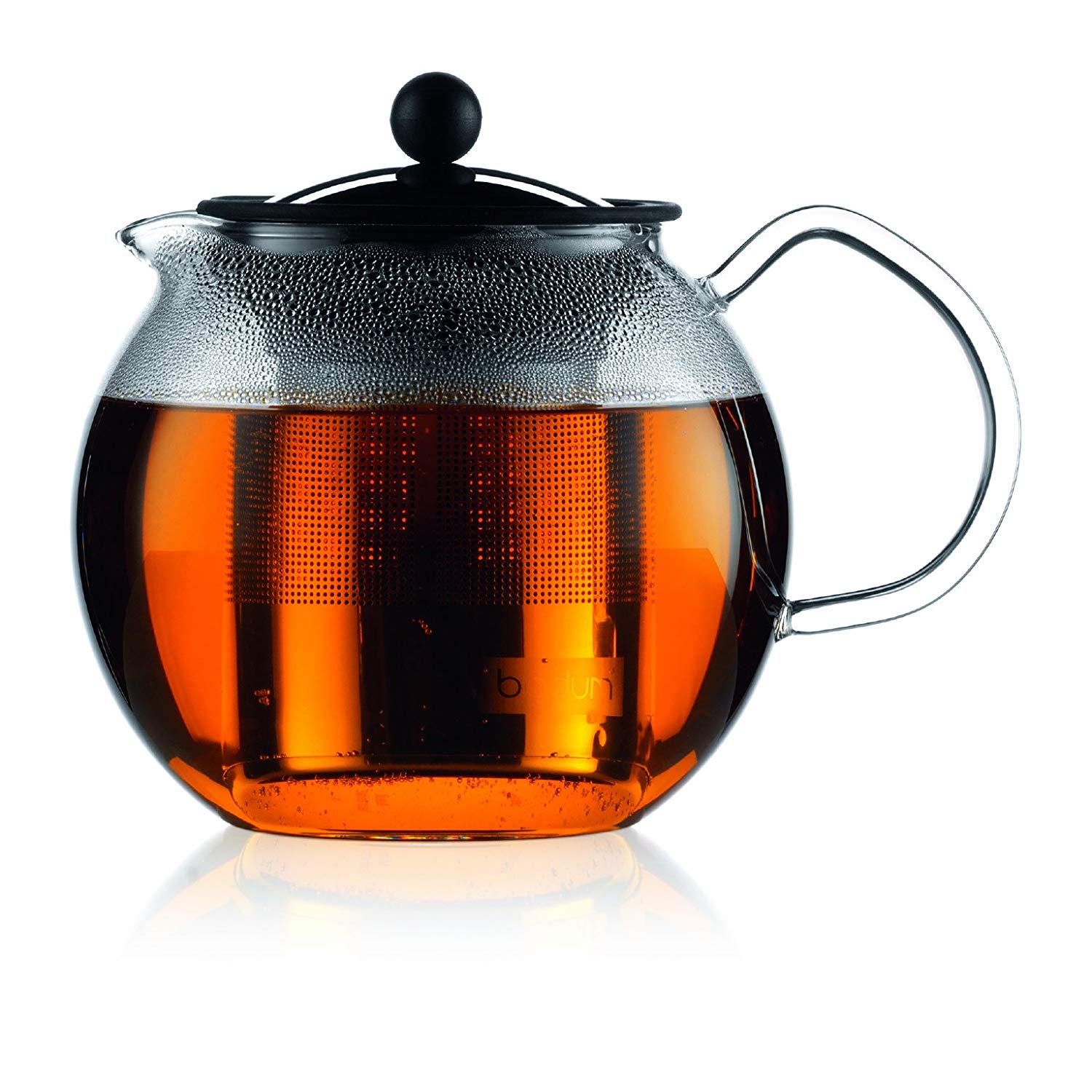 Teapot with infuser basket for loose tea