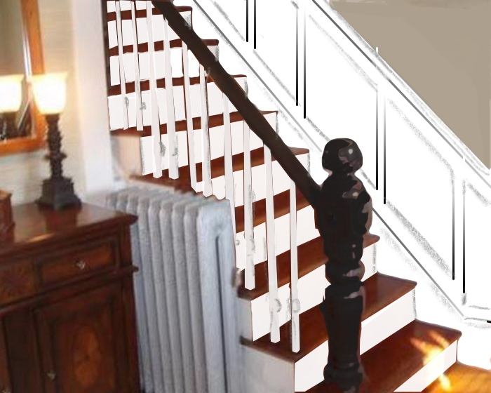 The correct way to do stair wainscoting