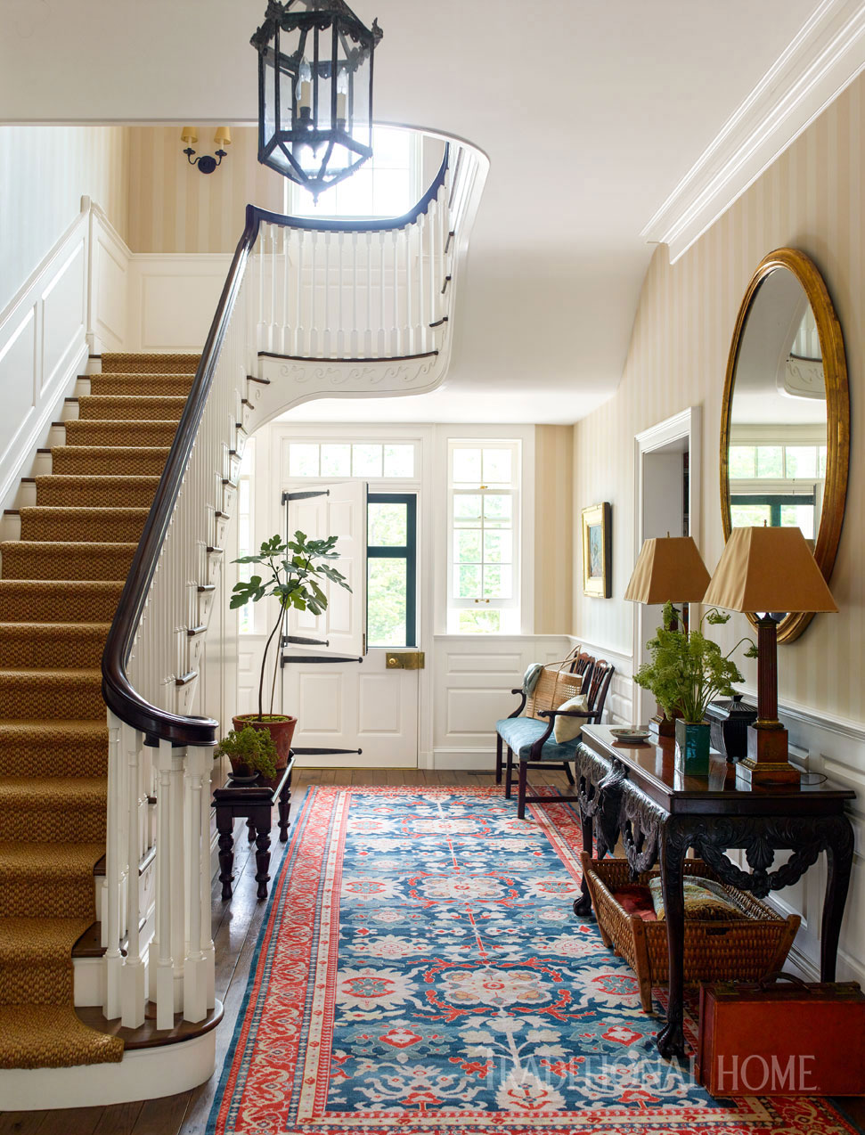 Connecticut Foyer via   Traditional Home    Architect:    Thomas Kligerman  , Photo:   Eric Piasecki