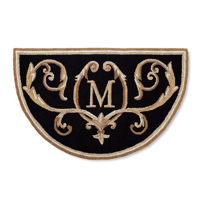 Elegant monogrammed outdoor mat