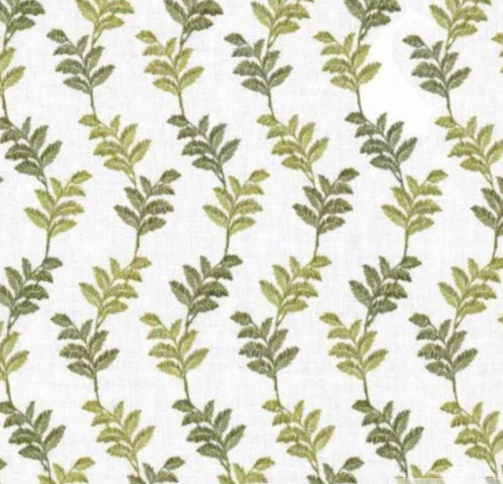 Trailing Fern embroidered fabric