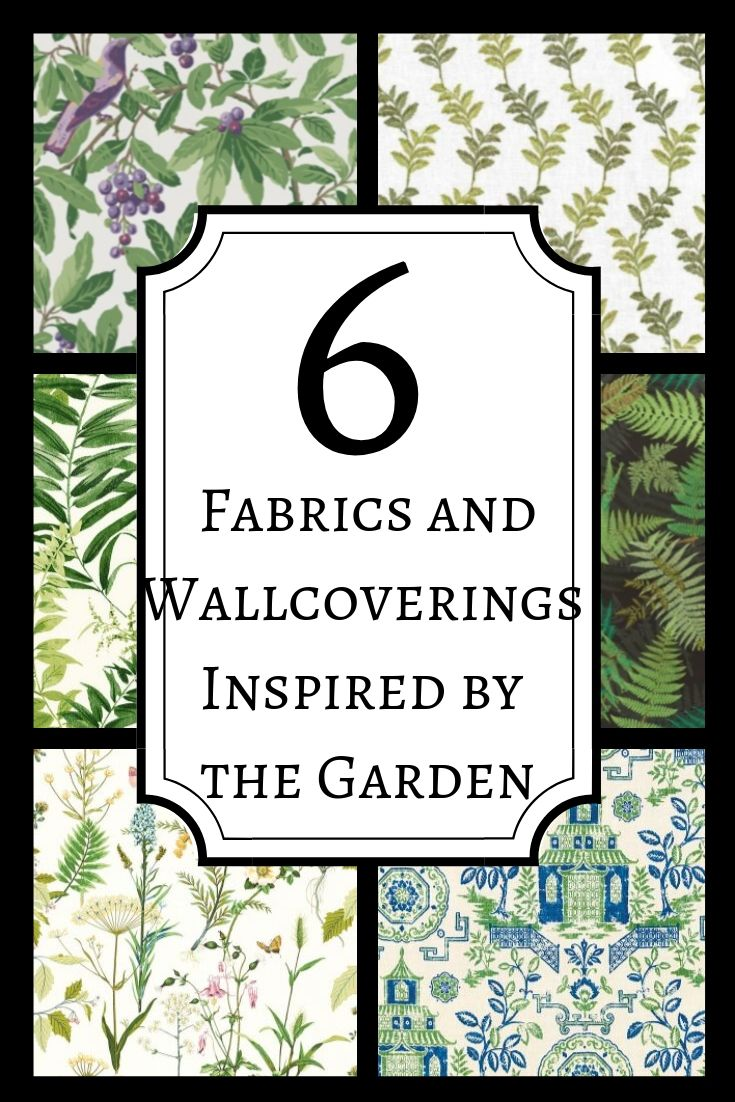 Fabrics and Wallcoverings inspired by the garden