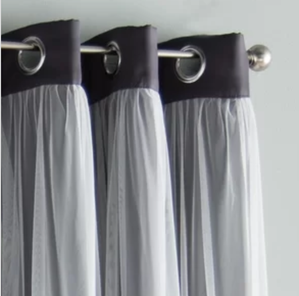 An unfortunate curtain header Image via   Joss and Main