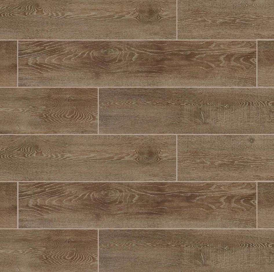Wood look tile Image via   Home Depot