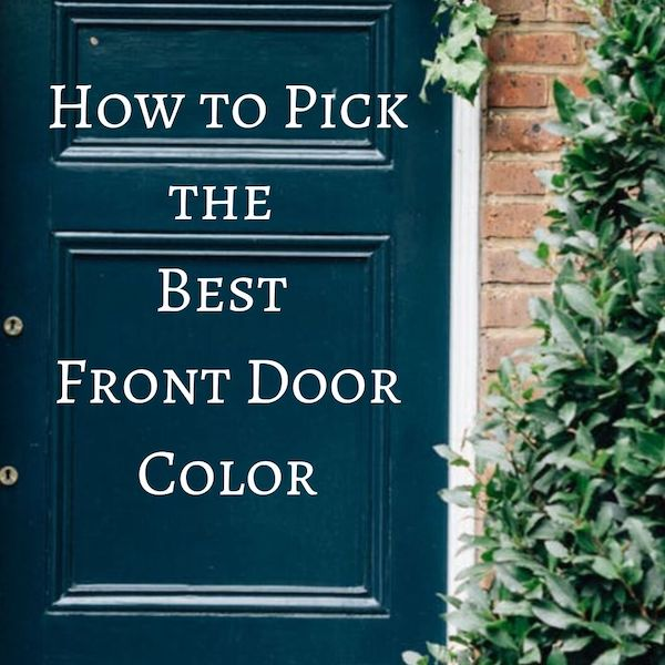 Best Front Door Colors by JRL Interiors 01720