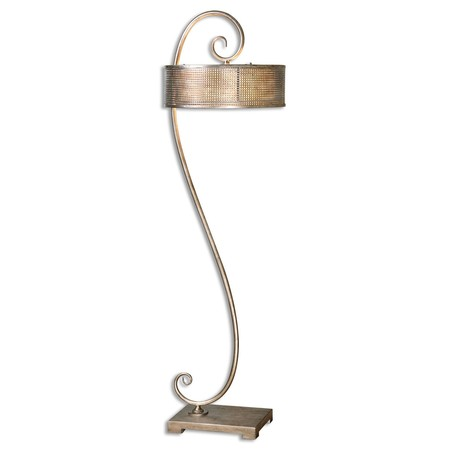 scroll floor lamp