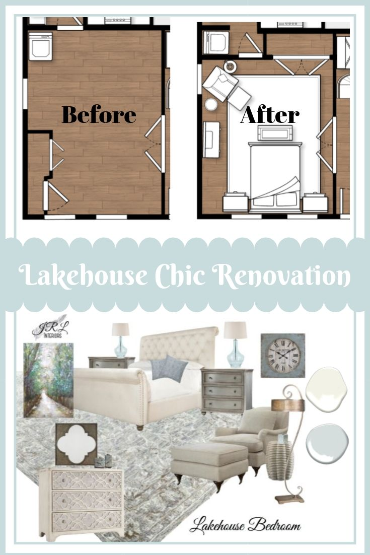 Lakehouse Chic Bedroom Renovation