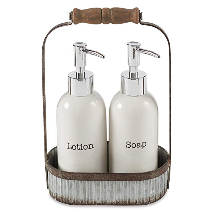 Farmhouse soap/lotion caddy