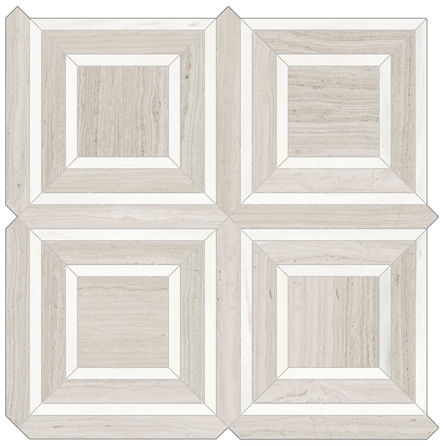 stone-look tile in porcelain means you get the elegant look of stone without the maintenance drama! Loving this warm taupe/gray colorway