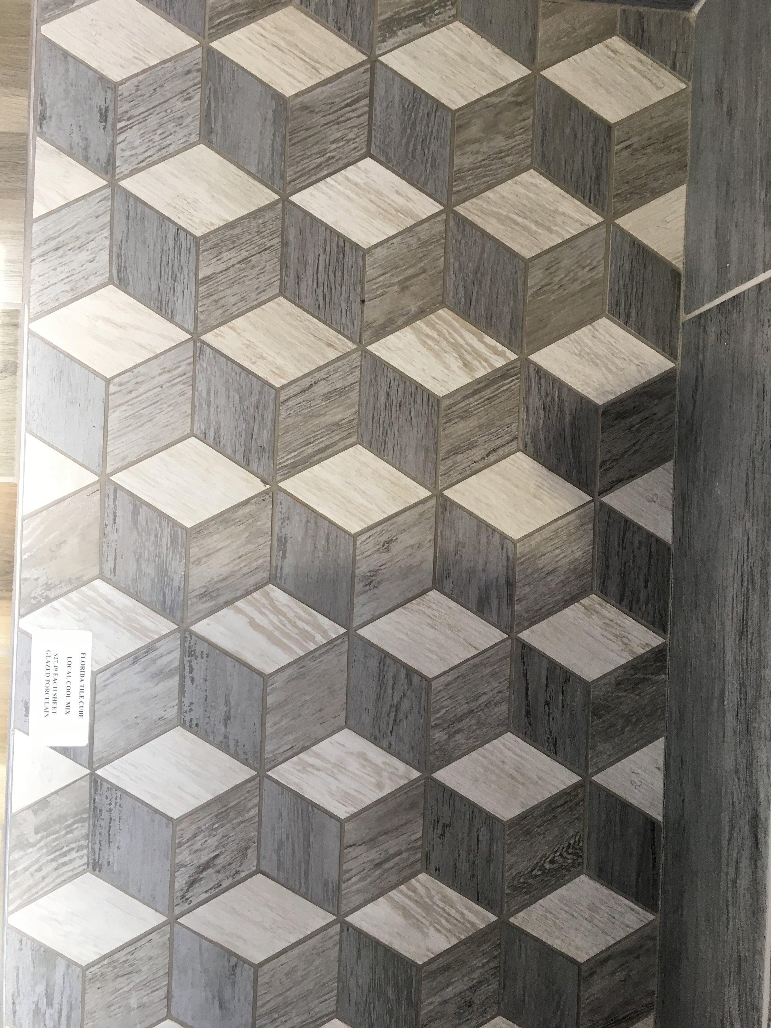 Fascinating optical illusion wood look porcelain tile