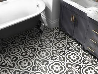 Encaustic tiles. Image via  Lowe's