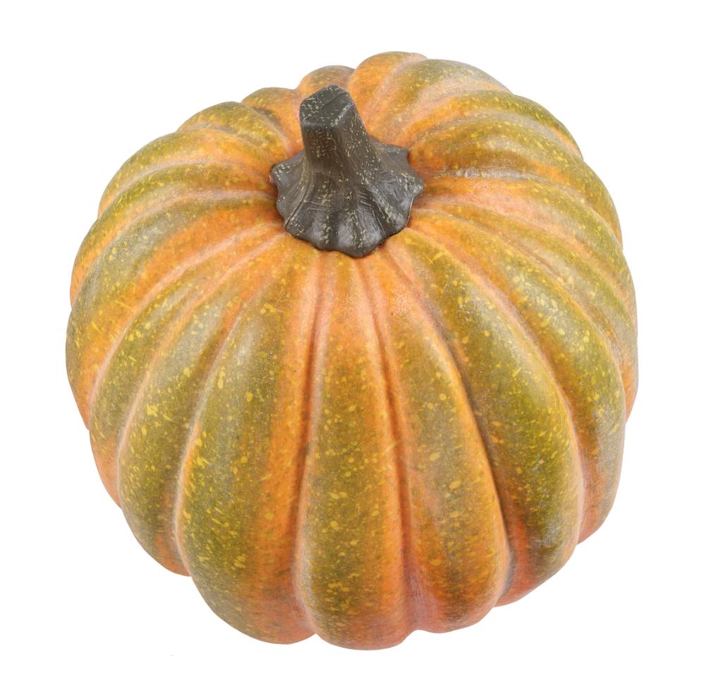 """11"""" faux yellow/green pumpkin"""