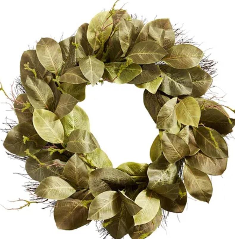 """Magnolia leaf wreath 27"""""""